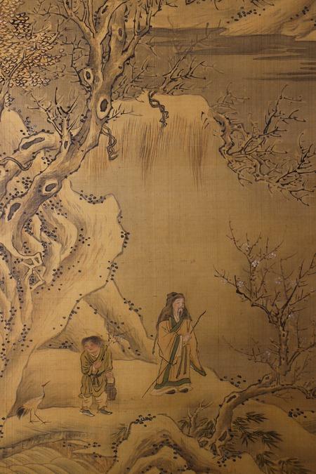 竹本石亭筆水墨山水図3