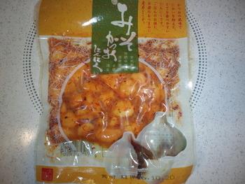 業務スーパー 味噌カツオにんにく120g88円(税抜)