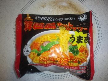 業務スーパー 袋めん 韓国風ホット&サワー5袋入り165円(税抜)
