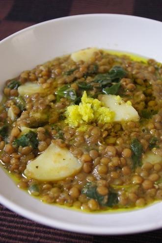 2010.01.11 lentil & spinach soup