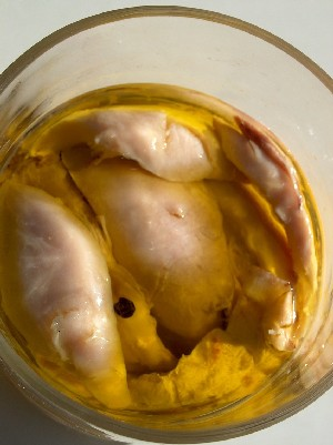 chicken in oil