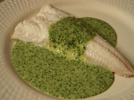 2009.08.09 salt cod with coriander sauce