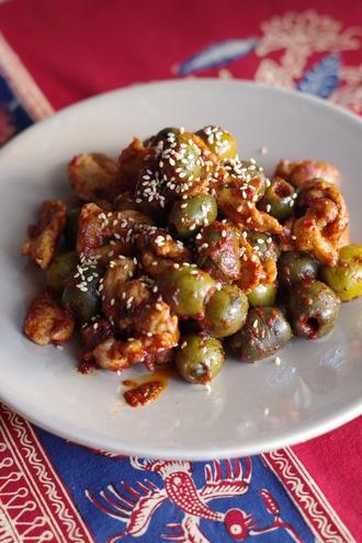 2020.10.24 pork with olive kimchi1
