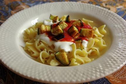 2009.06.30 pasta with tomato sauce & yogurt