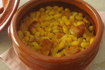 2015.03.14 orange pork & beans2