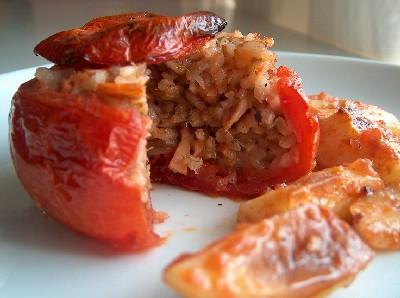 octopus pilaf-stuffed tomato2