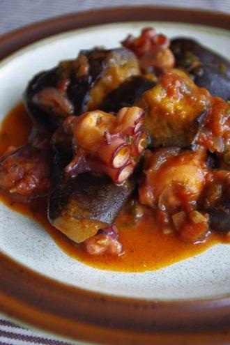 2010.10.17 octopus & aubergine stew