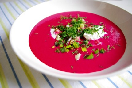 2010.07.15 chilled beetroot & yoghurt soup