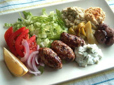 2008.11.21 lunch ギリシャのごはん:キプロス料理でワンプレートランチ♪ - li