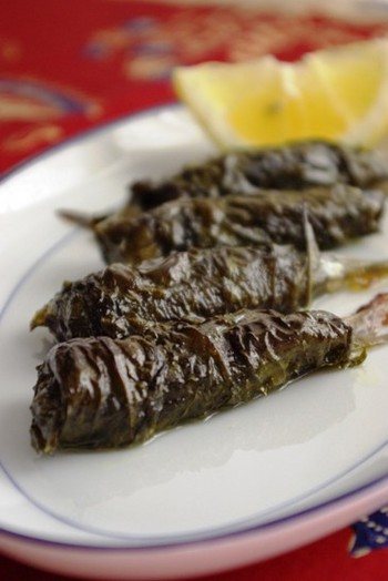 2009.06.16 sardines in vine leaves1