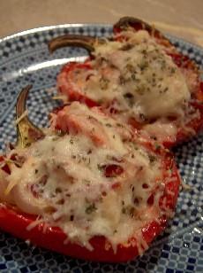 pastourma stuffed pepper