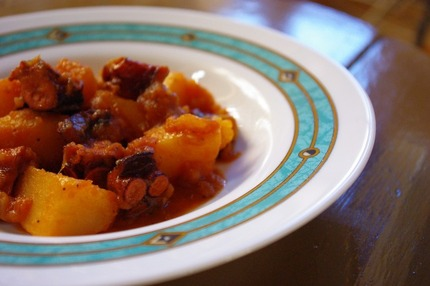 2010.08.27 dried octopus & potato stew