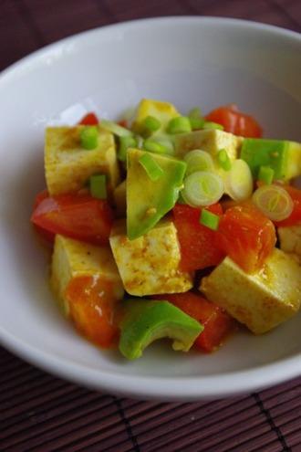 2010.11.11 tofu & avocado salad