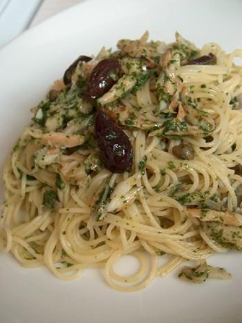 pasta with salt cod