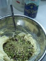 adding pistachios