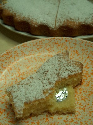 torta with limoncello cream