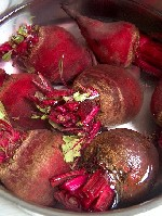 boiling beetroot