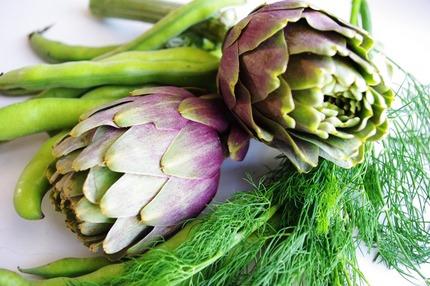 2011.04.12 artichokes & broad beans