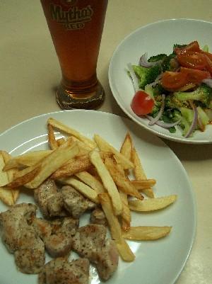 souvlaki & salad
