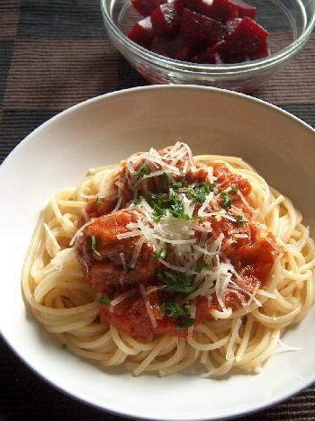 2008.09.27 spaghetti with meatballs1