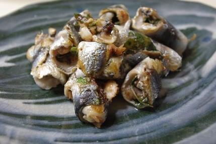 2009.08.25 sardine rolls with ume & shiso