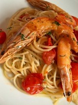 pasta with prawns & ouzo
