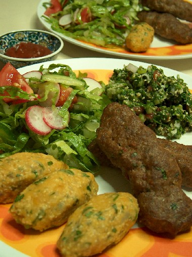 kebab dinner