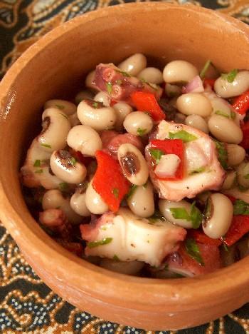 2009.03.02 octopus & black-eyed pea salad