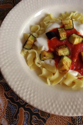 2009.06.30 pasta with tomato sauce & yogurt1