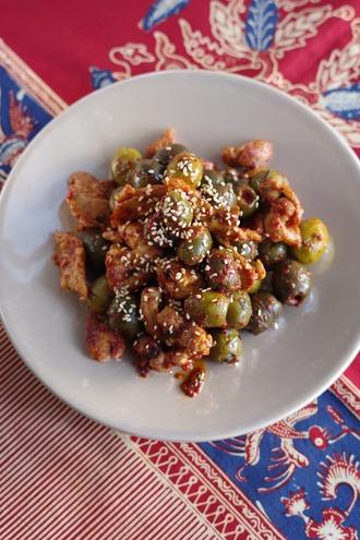 2020.10.24 pork with olive kimchi2