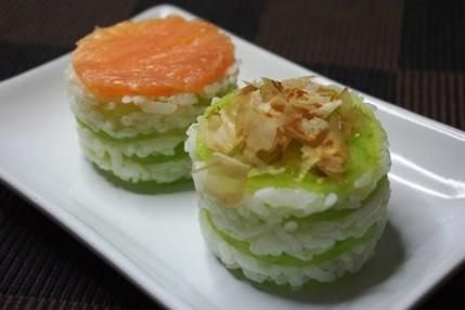 2009.10.11 green tomato sushi