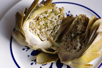 2021.04.07 stuffed artichoke4