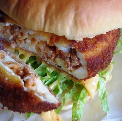 2009.12.10 pastitsio croquette burger2