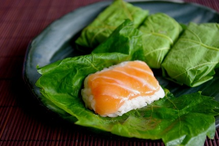 2011.05.28 vine-leaf sushi