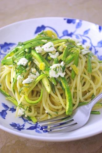 2017.07.29 spaghetti with zucchini & feta