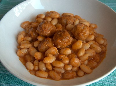 meatball & bean stew