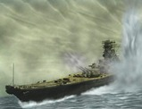 戦艦大和模型を画像処理拡大版