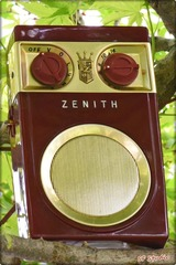 1955 USA ZENITH radio 希少扁平7Tr