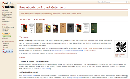 Free ebooks by Project Gutenberg