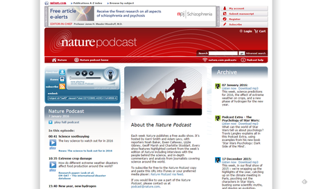 Home _ Nature podcast