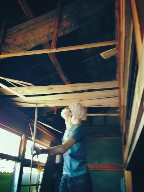 天井撤去!
