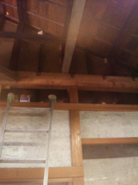 天井に石膏ボードを張るよ!