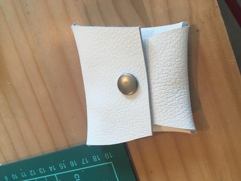 革でコインケースを作ろう!