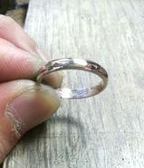 結婚指輪 研磨後