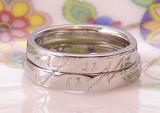 さくらとイニシャルの結婚指輪