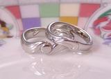 月と太陽の結婚指輪
