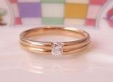ピンクゴールドダイヤモンドリング
