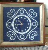 真珠の掛時計