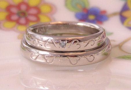 数字の結婚指輪