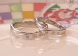 雪の結晶 結婚指輪